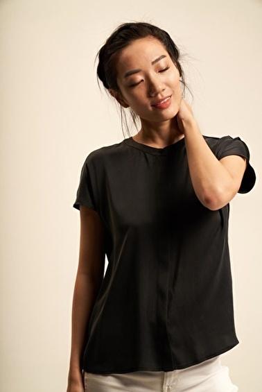Silk and Cashmere Gömlek Siyah